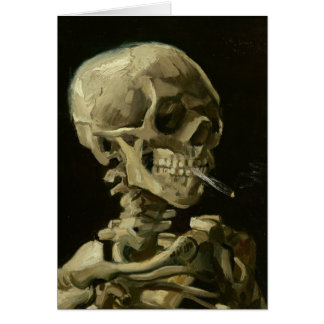 Skeleton with cigarette by Van Gogh Greeting Card