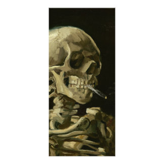 Skeleton with cigarette by Van Gogh Customized Rack Card