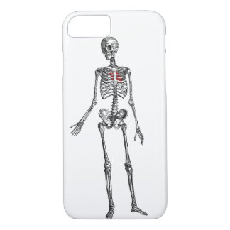 Skeleton with heart graphic print iPhone 7 case