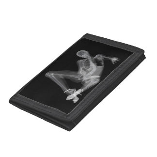 Skeleton woman sexy radiography trifold wallets