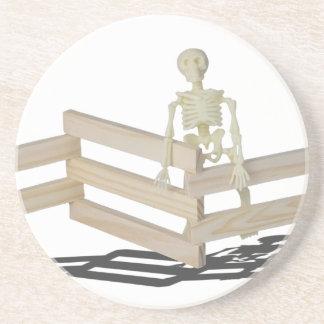 SkeletonAtFence062115 Beverage Coaster