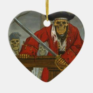 SkeletonCrew.JPG Ceramic Heart Ornament