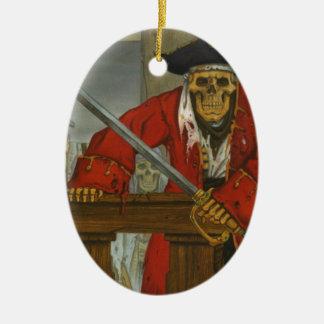 SkeletonCrew.JPG Ceramic Oval Ornament