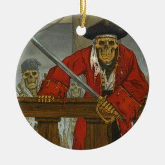 SkeletonCrew.JPG Round Ceramic Ornament