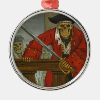 SkeletonCrew.JPG Silver-Colored Round Ornament