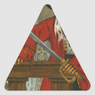 SkeletonCrew.JPG Triangle Sticker