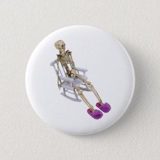SkeletonFuzzySlippersRocker030310 2 Inch Round Button