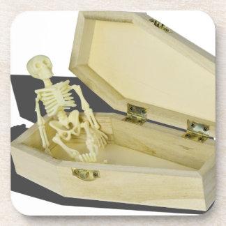 SkeletoninCoffin070315 Drink Coasters