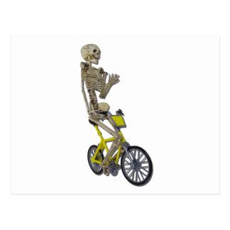 SkeletonOnBicycle100711 Postcard