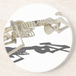 SkeletonProneSideways032215 Beverage Coaster
