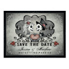Skeletons Black Grey White SAVE THE DATE Postcard