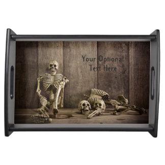 Skeletons custom text serving trays