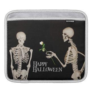 Skeletons Funny Romantic Happy Halloween iPad Sleeve