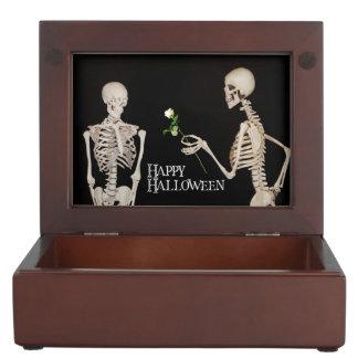 Skeletons Funny Romantic Happy Halloween Keepsake Box