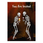 Skeletons Halloween Party Invitation