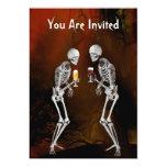 Skeletons Halloween Party Invitation