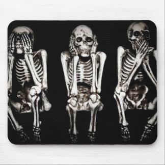 Skeletons Hear No Evil, See No Evil, Speak No Evil Mouse Pad