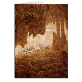 Skeletons in a Cave Retirement card