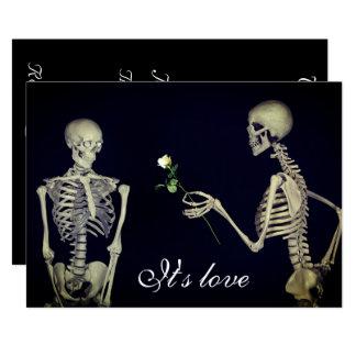 Skeletons in Love Wedding Card