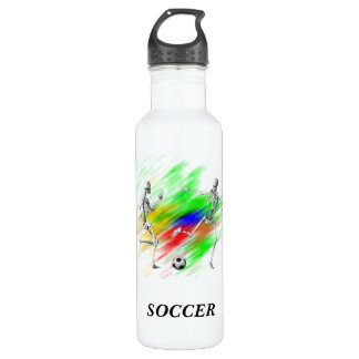 Skeletons Playing Soccer 710 Ml Water Bottle