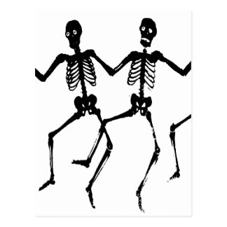 Skeletons Postcard