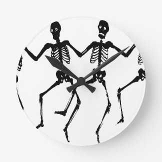 Skeletons Round Clock