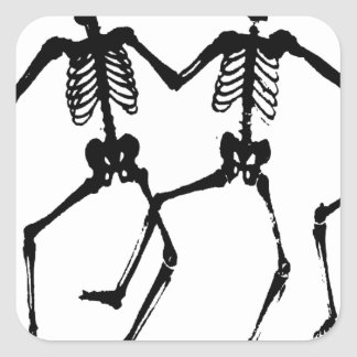 Skeletons Square Sticker
