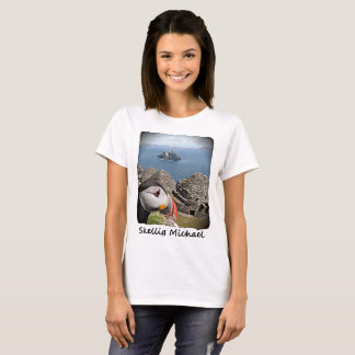 Skellig Michael, Kerry, Ireland, Puffin, T-shirt F