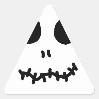 Skellinigtonesk Halloween font face sanctifient Autocollant En Triangle