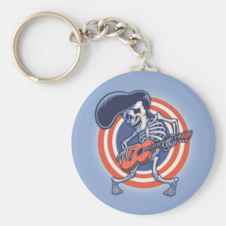 Skelvice Basic Round Button Keychain