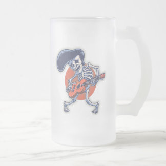 Skelvice Frosted Glass Beer Mug