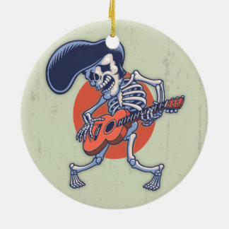 Skelvice Round Ceramic Ornament
