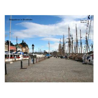 Skeppsbron in Stockholm, Postcard