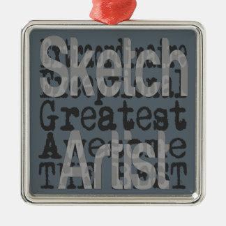 Sketch Artist Extraordinaire Metal Ornament