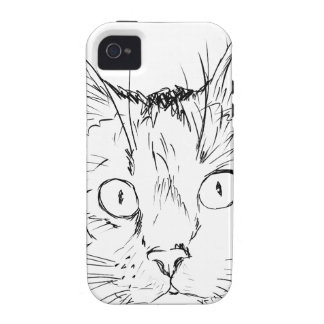 Sketch Cat Animal iPhone 4/4S Covers