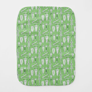 Sketch Crocodile Pattern Burp Cloths