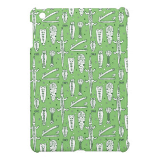 Sketch Crocodile Pattern iPad Mini Covers