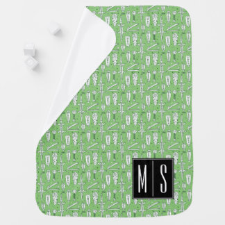 Sketch Crocodile Pattern | Monogram Swaddle Blankets