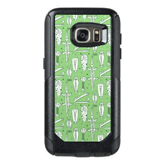 Sketch Crocodile Pattern OtterBox Samsung Galaxy S7 Case