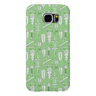 Sketch Crocodile Pattern Samsung Galaxy S6 Cases