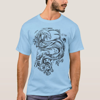 Sketch Doodle Water Dragon  T-Shirt