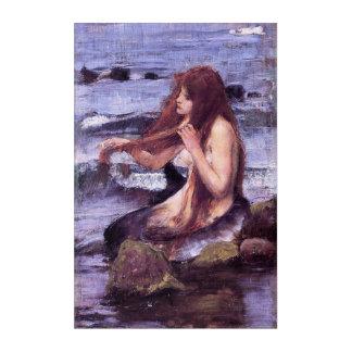 Sketch for A Mermaid by J W WaTERHOuSE Acrylic Wall Art