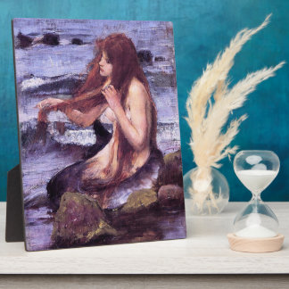 Sketch for A Mermaid by J W WaTERHOuSE Plaque