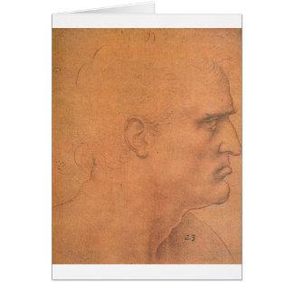 Sketch for Leonardo da Vinci's Last supper Card