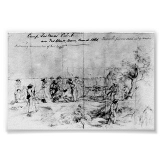 Sketch from Confederate States of America, 1861 Poster