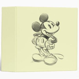 Sketch Mickey Mouse Vinyl Binder