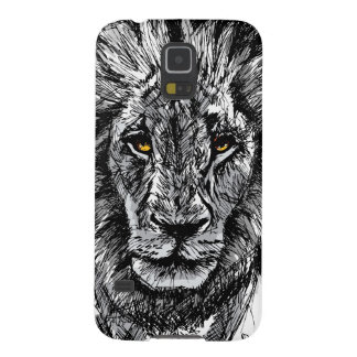 Sketch of a big male African lion Galaxy S5 Cases
