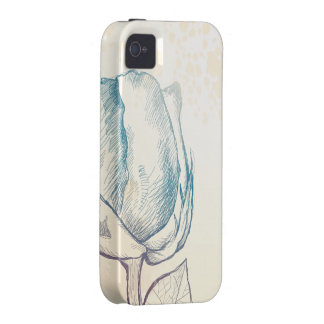 Sketch of a rose, iPhone case iPhone 4/4S Covers