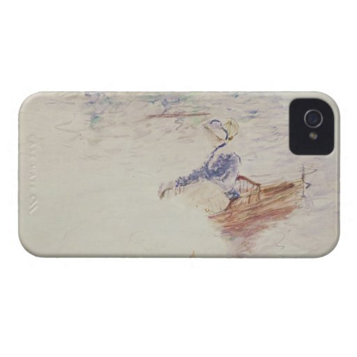 Sketch of a Young Woman in a Boat, 1886 (w/c on ca Case-Mate iPhone 4 Cases