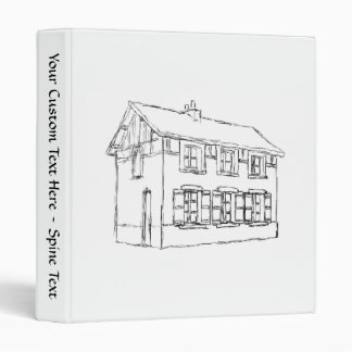 Sketch of an Old House, with Shutters. 3 Ring Binder